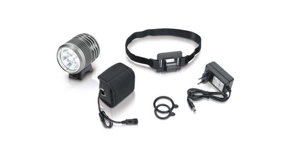XLC Pro CL-F15 Lampa na kask 3000 Lumen szary